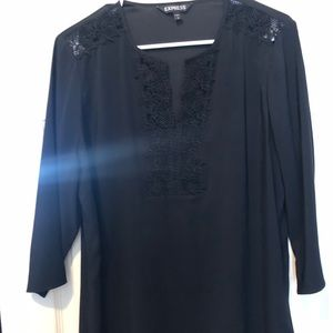 Black tunic with detail